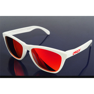 OAKLEY FROGSKINS POLISHED WHITE / RUBY IRIDIUM