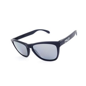 OAKLEY FROGSKINS MATT BLACK / BLACK IRIDIUM POLARIZED