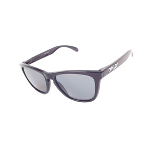 OAKLEY FROGSKINS POLSHED BLACK / GREY POLARIZED